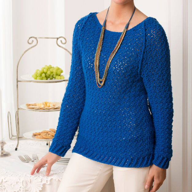 Red Heart Holiday Sparkle Sweater, S