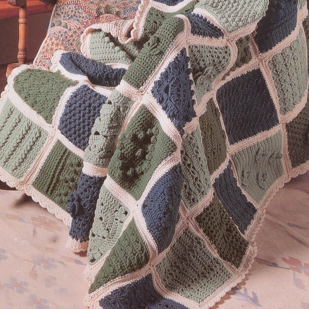Patons Sampler Afghan to Crochet in color