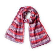 Red Heart Heartwarming Crochet Scarf