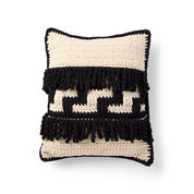 Bernat Graphic Step Crochet Pillow