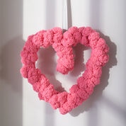 Red Heart Pom-dorable Heart Wreath