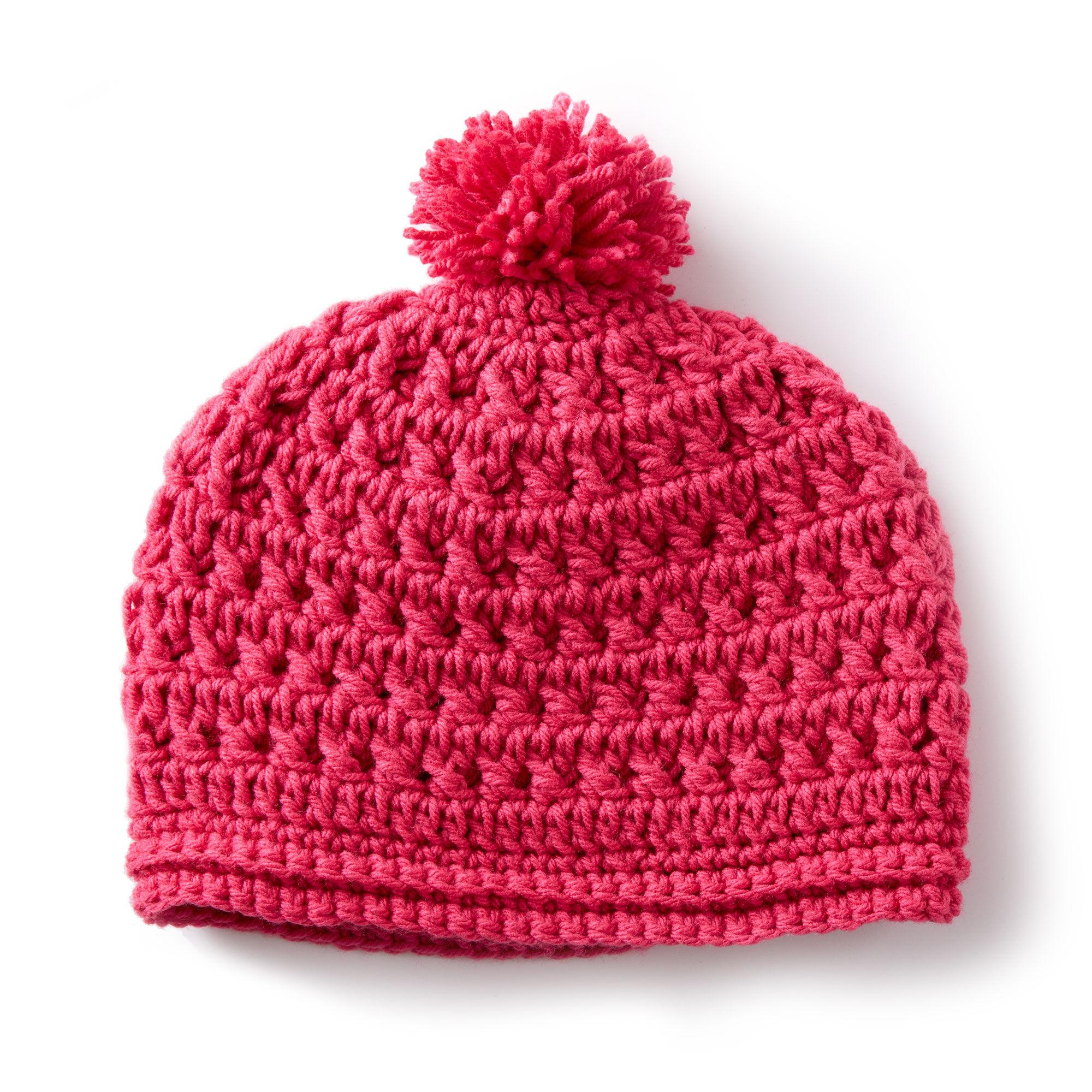 Caron Pebbled Texture Crochet Hat Yarnspirations
