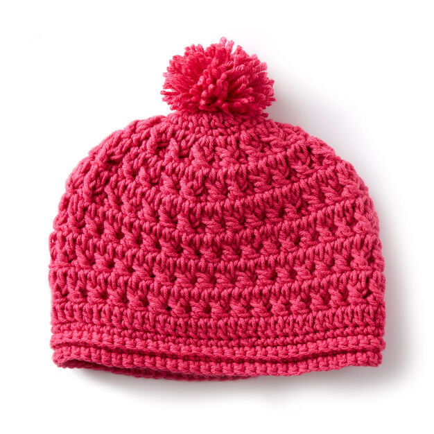 Caron Pebbled Texture Crochet Hat  9eeda4fd168