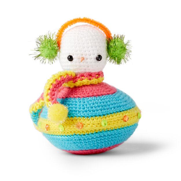 Red Heart Flying Saucer Crochet Snowman