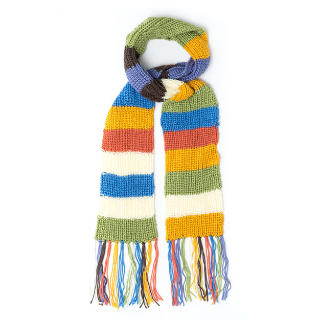 Caron Shaker Rib Mood Scarf, Softly Muted in color