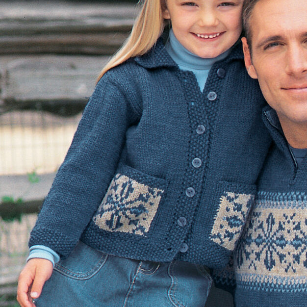 Patons Child's Snowflake Sweater, 4 Yrs in color