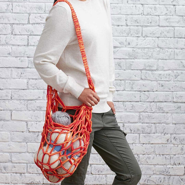 Lily Sugar'n Cream Arm Knit Market Bag in color