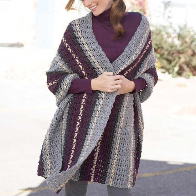 Caron Afternoon Wrap in color