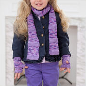 Go to Product: Red Heart Berry-licious Scarf & Wristers, 2 yrs in color