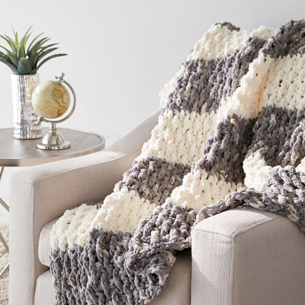 Bernat Lush Life Blanket in color