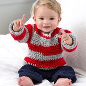 Red Heart Go Team Go! Baby Sweater, 6 mos