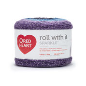 Red Heart Roll With It Sparkle Yarn, Amethyst