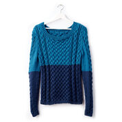 Caron Dipped Cable Knit Pullover, XS/S