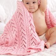 Caron Little Girl Pink Baby Blanket