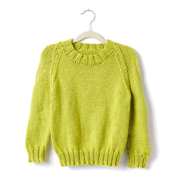 Caron Adult Knit Crew Neck Pullover, XS/S in color