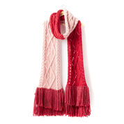 Bernat Argyle Cable Lace Knit Super Scarf