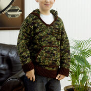 Red Heart Kid's Hooded Sweatshirt, 4 yrs