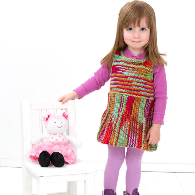 Red Heart Flared Jumper, 2 yrs in color