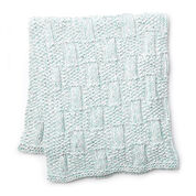 Bernat Box Stitch Knit Baby Blanket