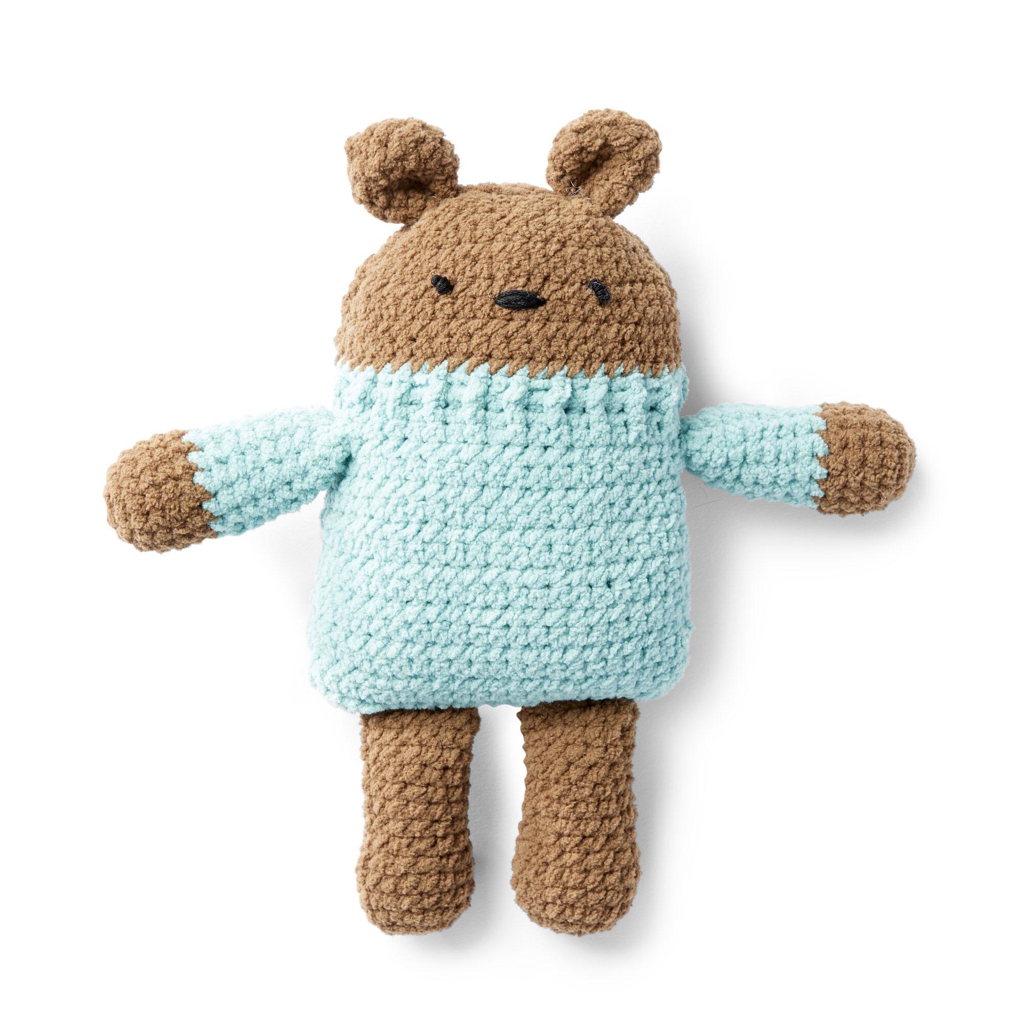 Bernat Crochet Square Bear Blue Pattern Yarnspirations