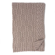 Patons Cross Roads Cable Knit Blanket