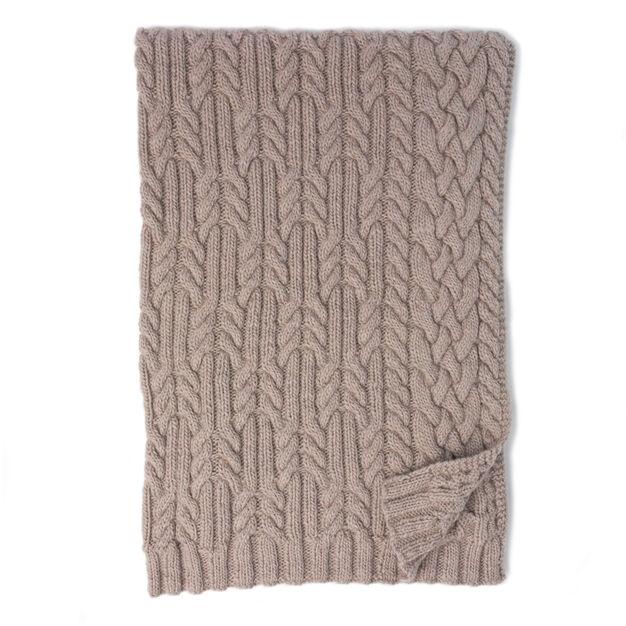 Patons Cross Roads Cable Knit Blanket Pattern Yarnspirations