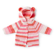 Red Heart Baby Bear Crochet Hoodie, 6 mos.