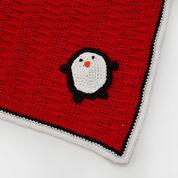 Red Heart Playful Penguin Blanket