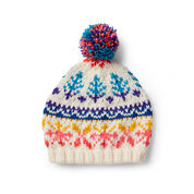 Bernat Love to Knit Fair Isle Hat