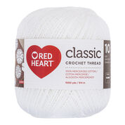 Go to Product: Red Heart Classic Crochet Thread (1000 yards) Size 10, White in color White