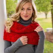 Red Heart Checkered Crochet Cowl