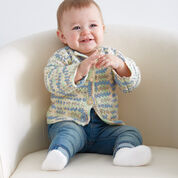 Bernat Baby's First Cardigan, 6/12 mos