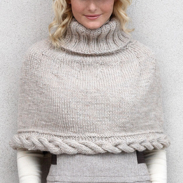 Patons Cable Capelet in color