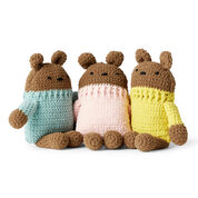 Go to Product: Bernat Crochet Square Bear, Blue in color