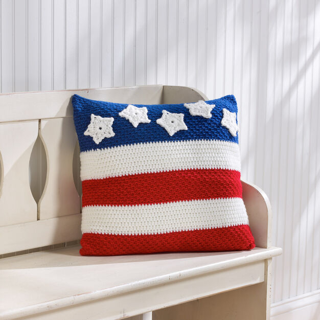 Red Heart Patriotic Pillow