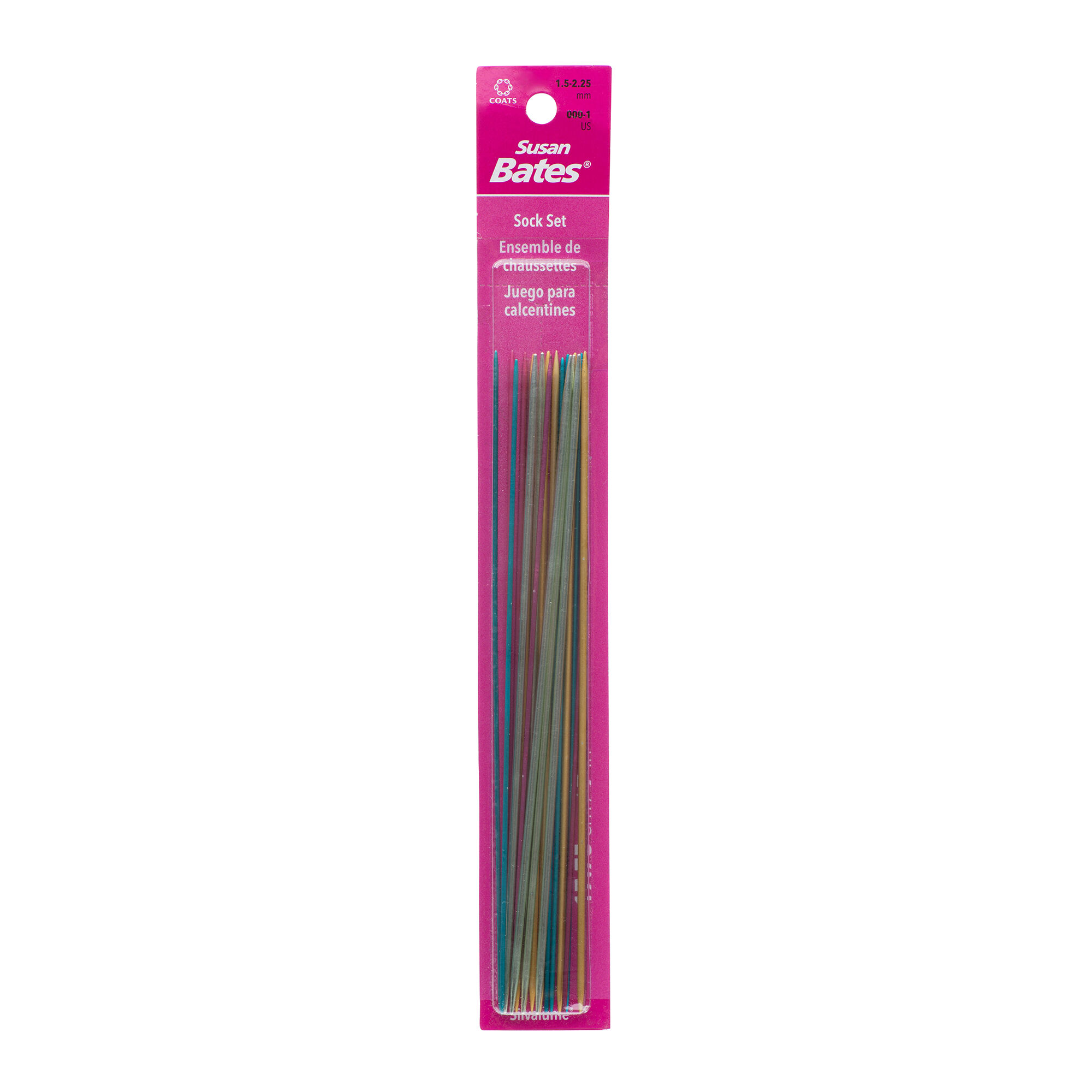 SUSAN BATES SIZE 000 1.5 MM DOUBLE POINT KNITTING NEEDLES