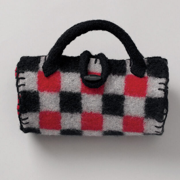 Patons Felted Buffalo Plaid Roll Bag in color
