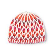 Caron x Pantone Honeycomb Crochet Hat