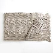 Bernat Crochet Cablework Blanket