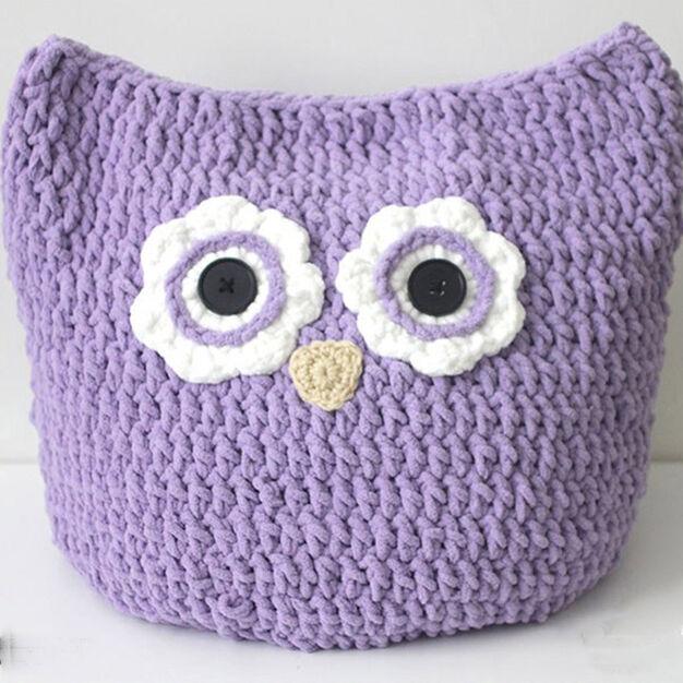 Bernat Oversized Owl Pillow To Crochet Yarnspirations