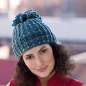 Red Heart Looped Tassel Hat