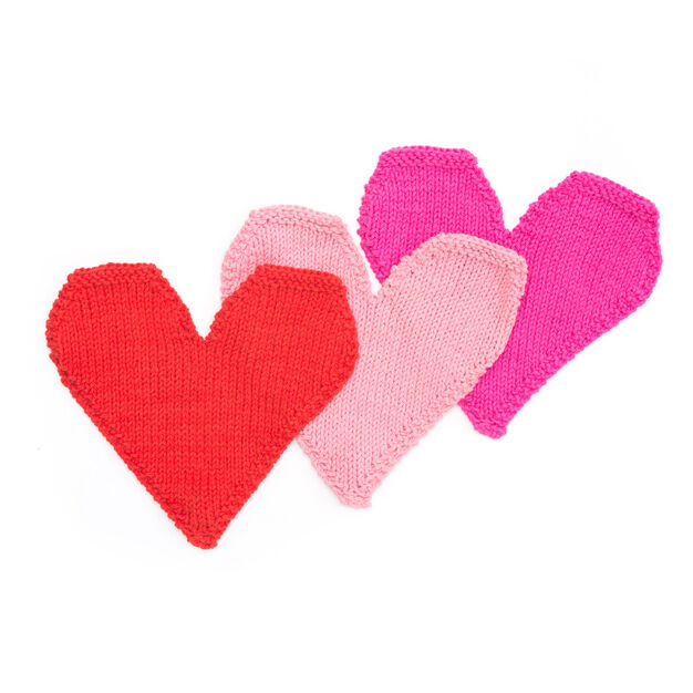 Lily Sugar'n Cream Be Mine Knit Dishcloth, Rose Pink