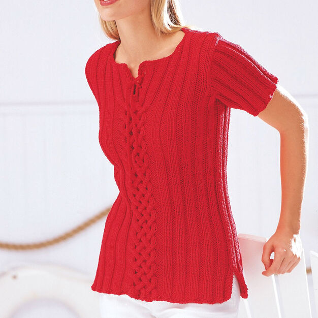 Patons Celtic Cables and Ribs Top, S