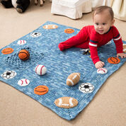 Red Heart Young Athlete Blanket and Rattles