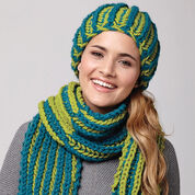 Go to Product: Bernat Flip Shade Hat & Scarf in color