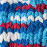 Bernat Blanket Brights Yarn (150g/5.3 oz), Red, White & Boom in color Red, White Boom