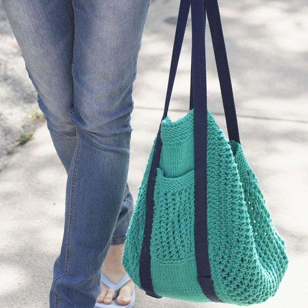 Lily Sugar'n Cream Go Green Market Bag in color