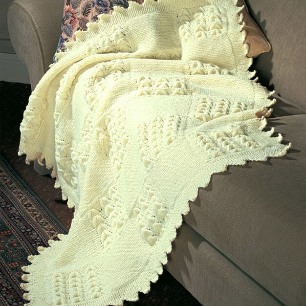 Patons Garter and Shell Squares in color