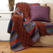 Bernat Stripes and Cables Afghan