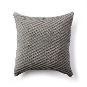 Bernat Diagonal Texture Knit Pillow